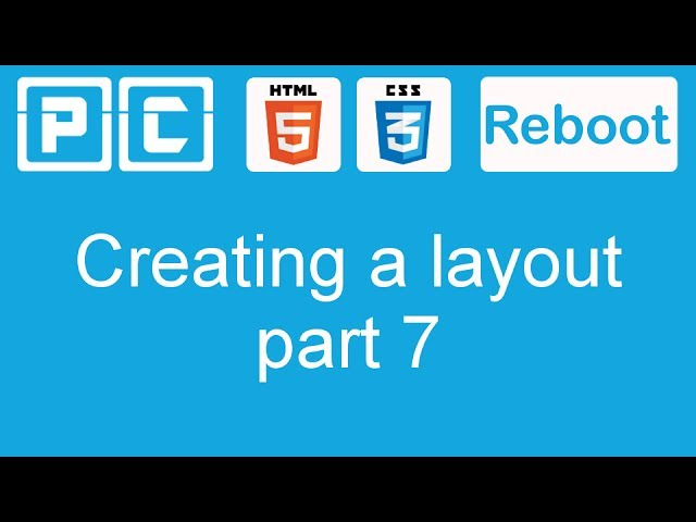 HTML5 and CSS3 beginners tutorial 40 - creating a website layout [part 7]