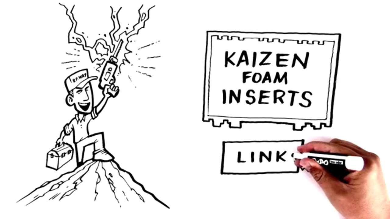 Kaizen foam inserts for tool boxes and other cases