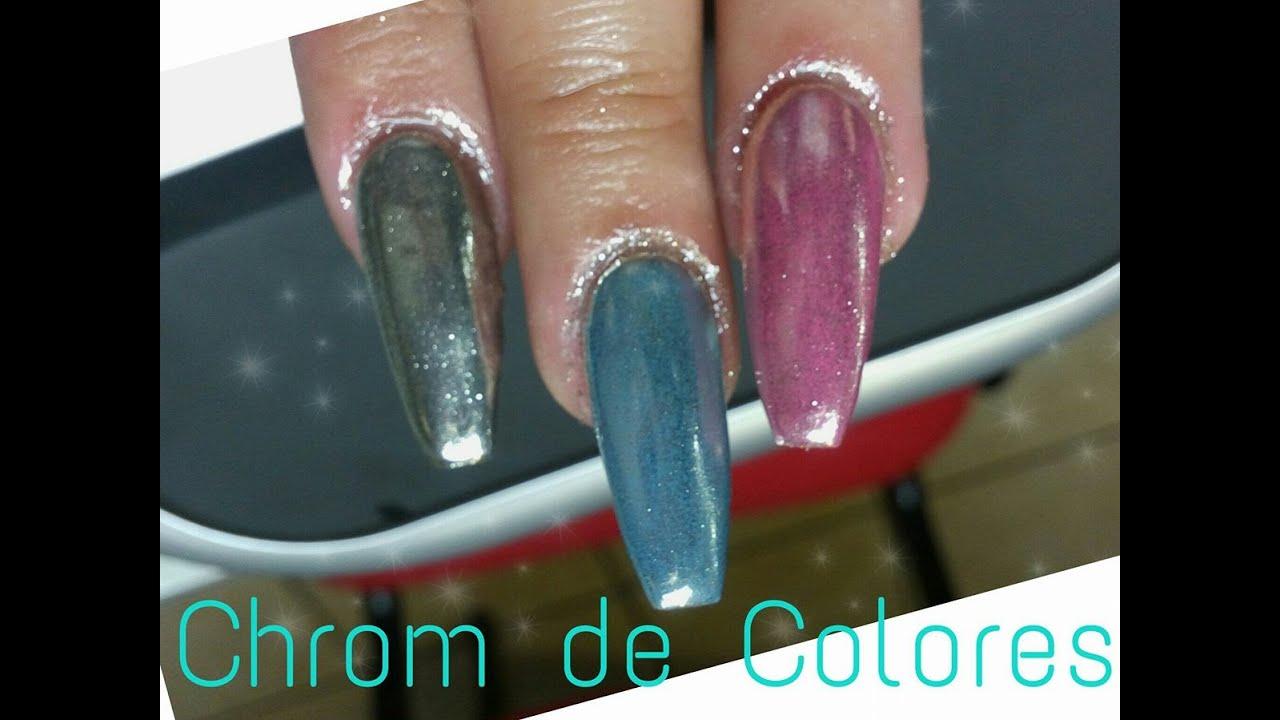 Efecto espejo de diferentes colores con un pigmento - YouTube