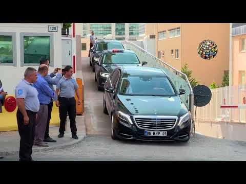 Devlet Bahçeli'nin MHP Genel Merkezi'nden çıkış Anı