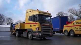 Pomoc Drogowa SZKWAREK - Holowanie po wypadku - Holownik Scania, Ciągnik Scania