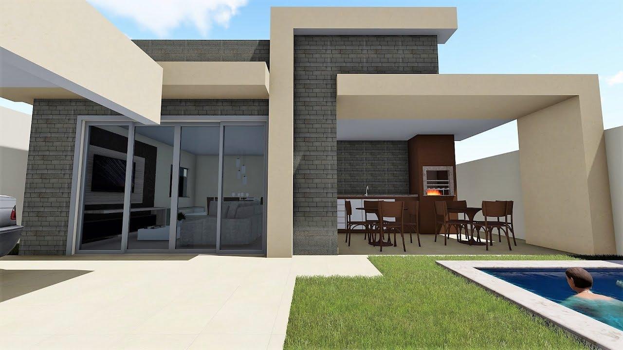 Casa 11x23 compre projeto whats na descri o youtube for Casa moderna l