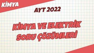AYT Kimya - Kimya ve Elektrik Soru Çözümleri   AYT Kimya 2021 hedefekoş