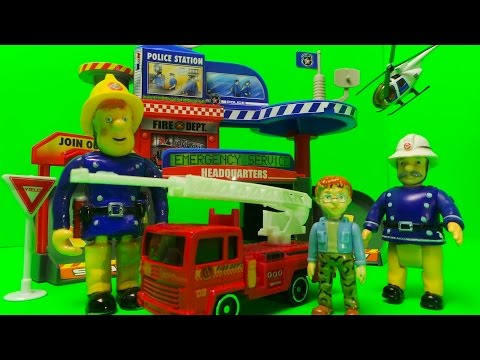 Vancouver Emergency Fire Station City Set Unboxing Inc. Fire Engine, Helicopter + Police