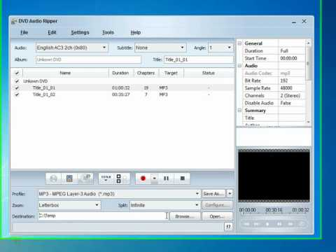 DVD Audio Ripper - Extraindo áudio do DVD