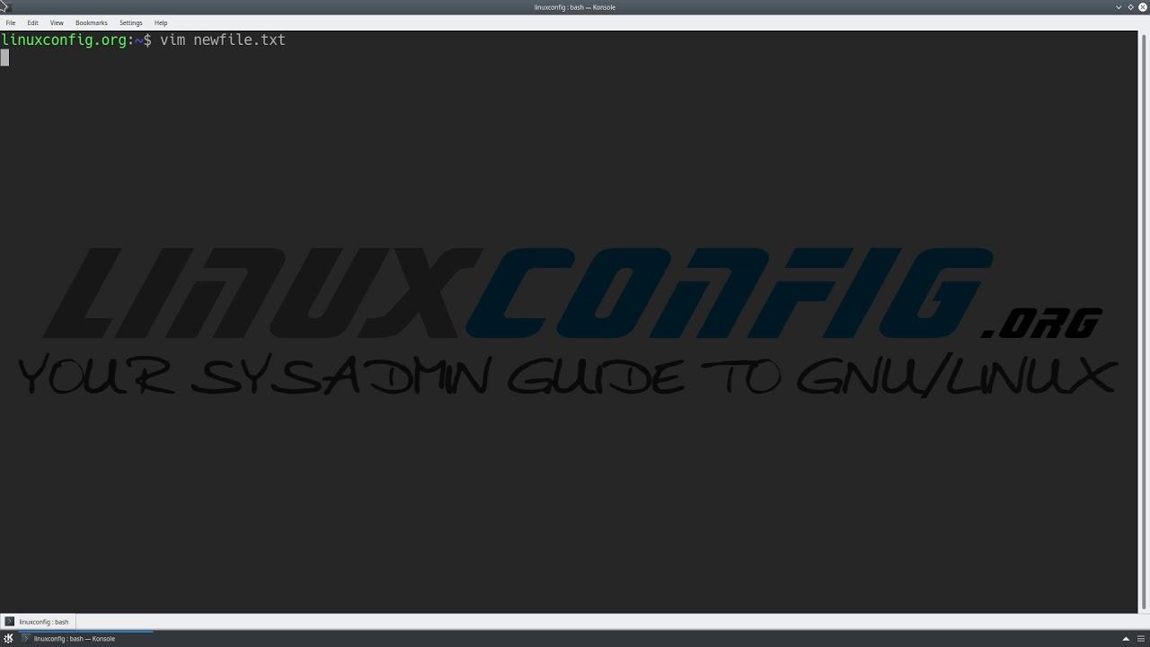Vim Tutorial - LinuxConfig org