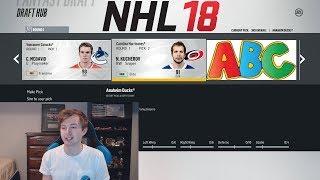 NHL 18 - ALPHABET FANTASY DRAFT CHALLENGE