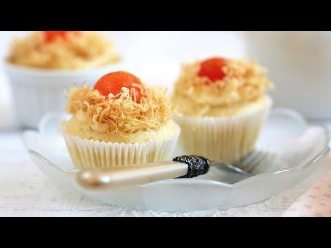 Cách làm bánh BÔNG LAN TRỨNG MUỐI không cần lò nướng - No oven Savoury Cupcakes Recipe