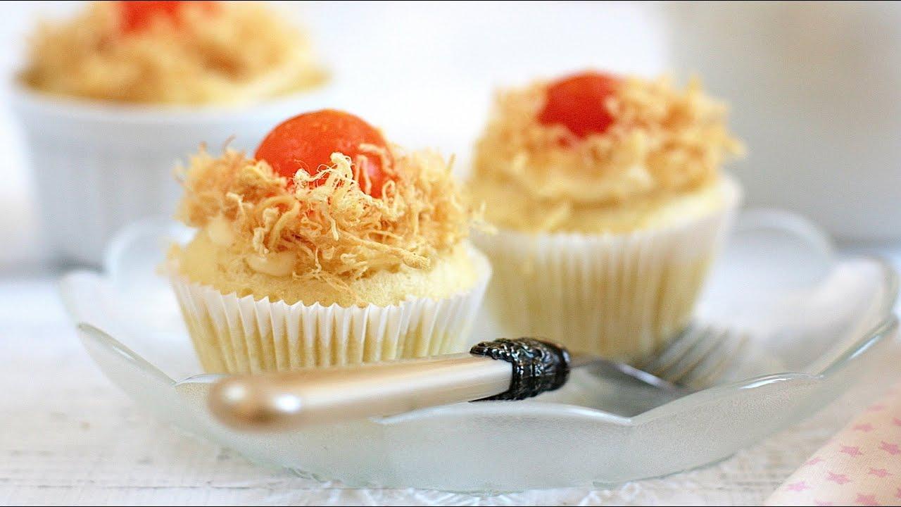 Cách làm bánh BÔNG LAN TRỨNG MUỐI không cần lò nướng – No oven Savoury Cupcakes Recipe