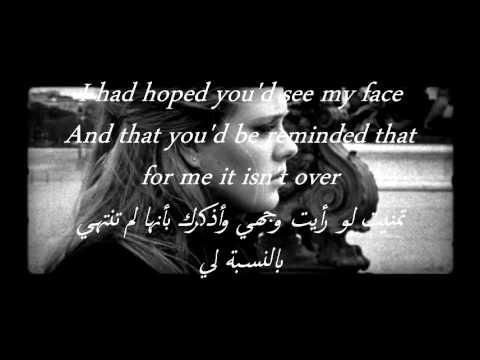 Adele - Someone Like You مترجمه للعربي