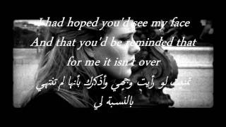 Adele - Someone Like You مترجمه للعربي