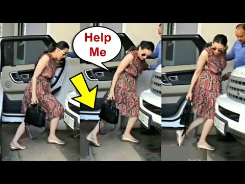 Karishma Kapoor Almost Falls On Road At Family Christmas Lunch