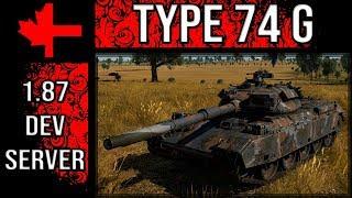 War Thunder Dev Server - Update 1.87 - Type 74 G