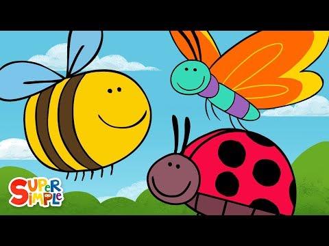 Butterfly Ladybug Bumblebee   Super Simple Songs
