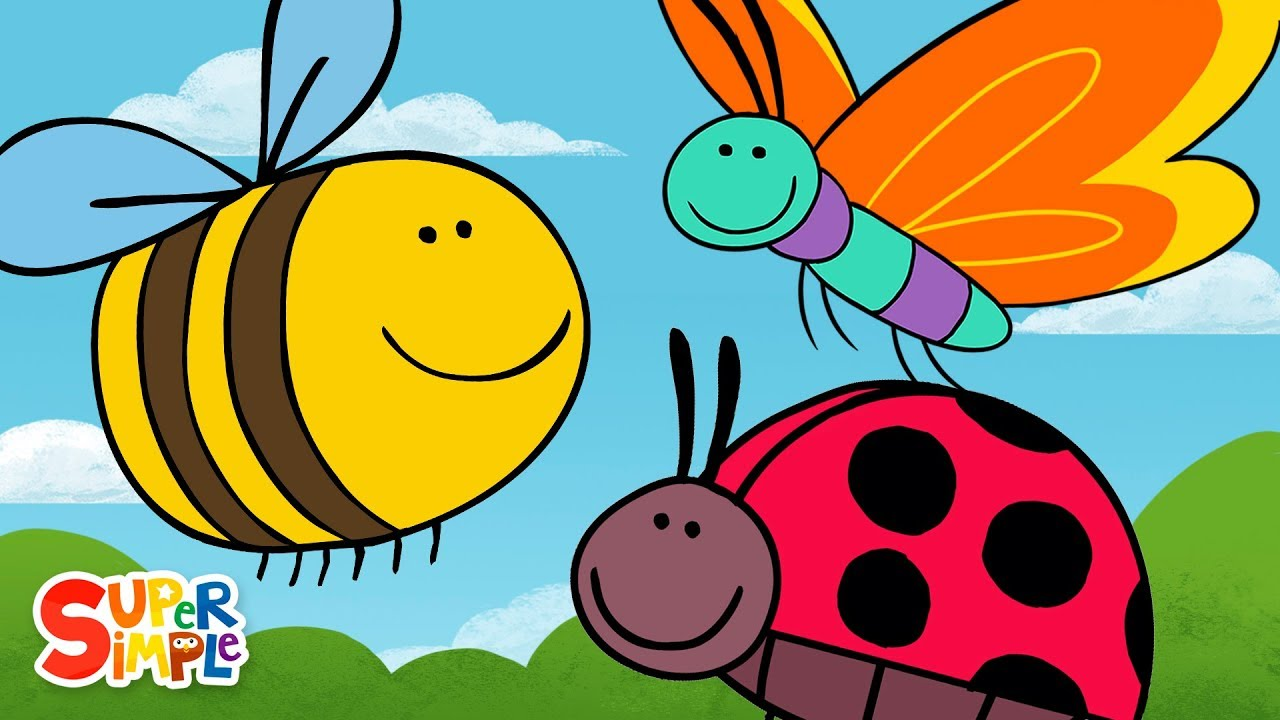 Download Butterfly Ladybug Bumblebee | Super Simple Songs