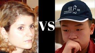 IM Jovanka Houska vs Wei Yi : Tradewise Gibraltar (2014)  ·  Indian Game: Pseudo-Benko (A46)