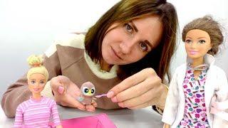 Куклы Барби - Необычный питомец. Видео для девочек.