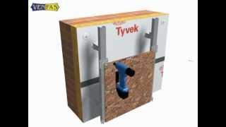 Монтаж вентилируемого фасада VENFAS-1. Керамогранит(Компания