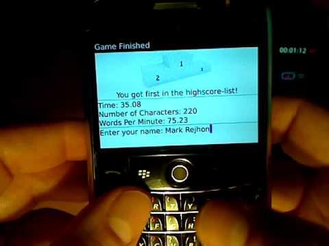 75 Words Per Minute on BlackBerry!