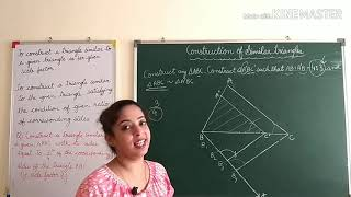 Construction of Similar triangles- Class 10- Construction