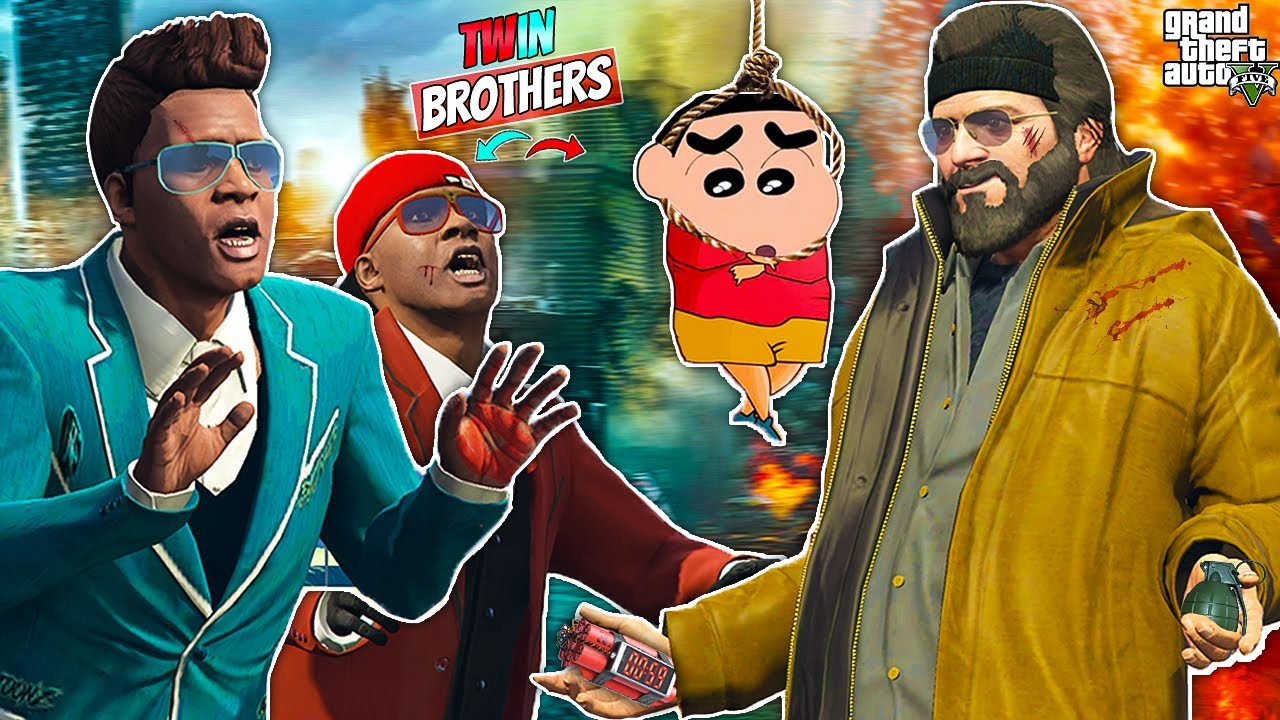 Franklin Tries To Save Shinchan From Michael In GTA 5