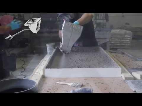 GFRC Concrete Countertop + Proper Fiber Dispersion Using A Sprayer
