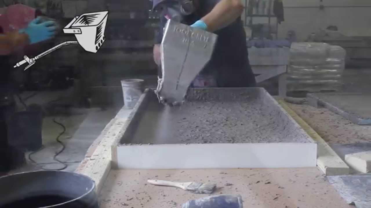 Gfrc Concrete Countertop Proper Fiber Dispersion Using A