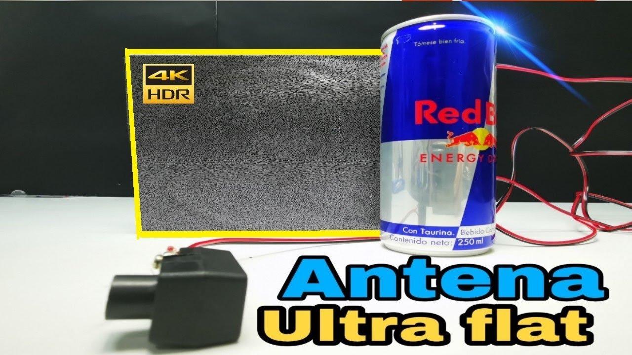 Antena Con Latas De Aluminio Imagen Perfecta Antenna Flat Tv