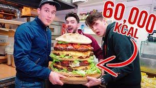 NAJWIĘKSZY BURGER NA ŚWIECIE?! *60.000 kcal*