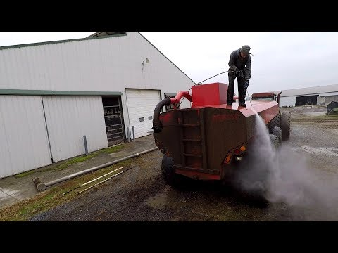 Washing Filthy Manure Equipment
