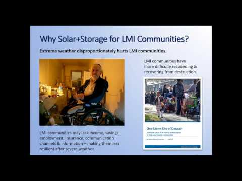 Solar+Storage for Low and Moderate Income Communities (3.16.2017)