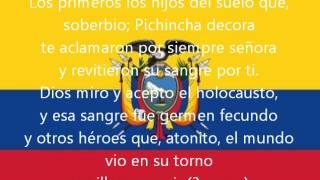 Himno Nacional del Ecuador [Original] con letra