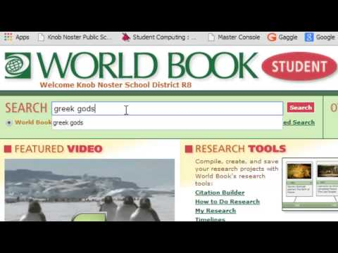 How to Use World Book Online