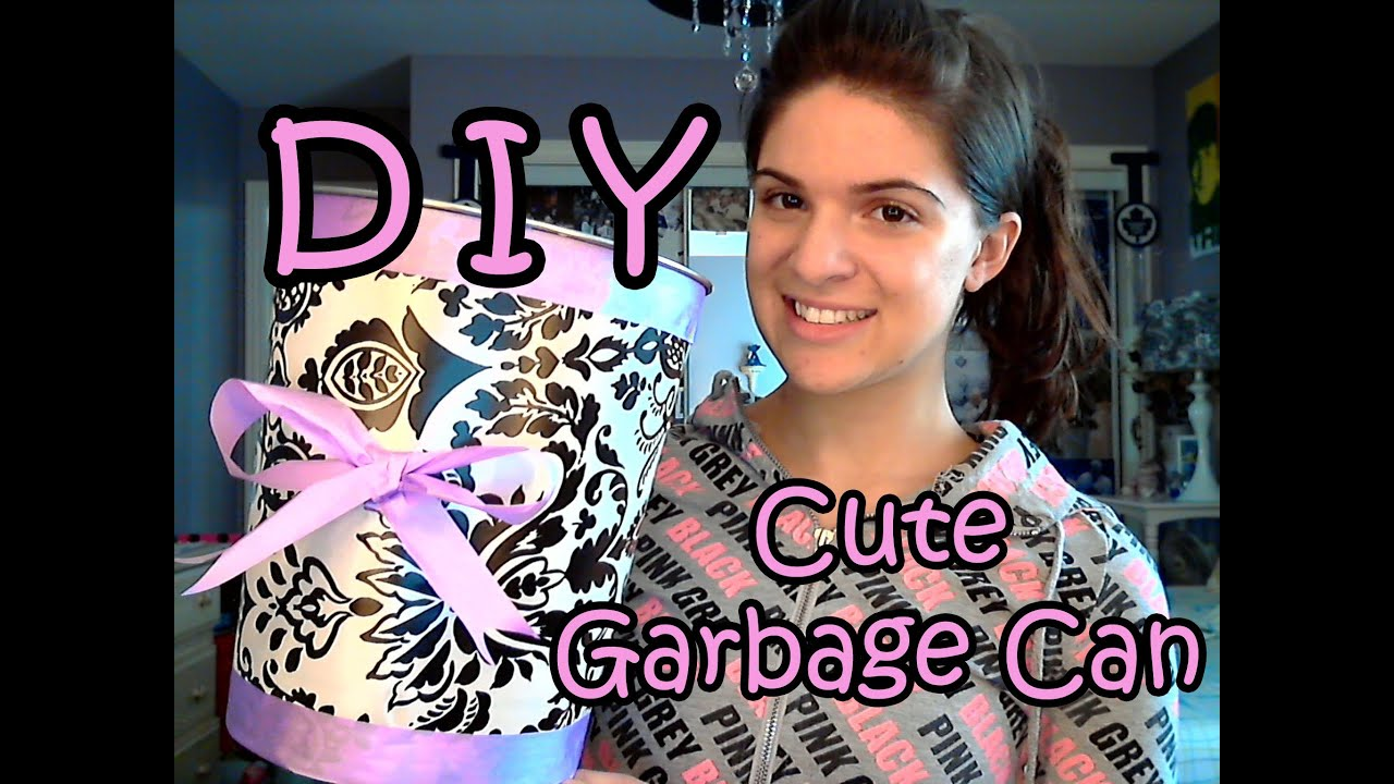 DIY Garbage Can Makeover ♥