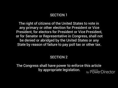 24th Amendment Music Video
