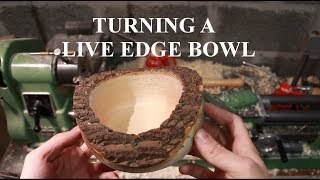 Turning a live edge bowl