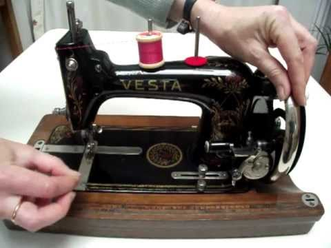 How To Thread A Little Vesta Vintage Sewing Machine Vesta Fascinating How To Thread An Old Sewing Machine With Pictures