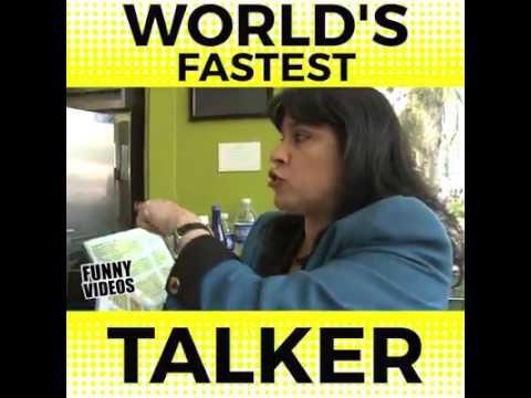 World Fastest talker she has a lot to talk
