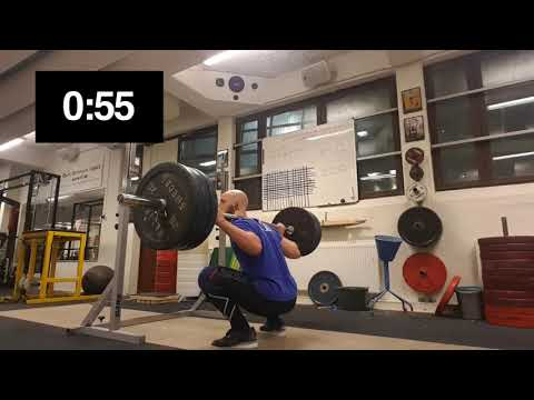 One Minute Pause Squat 140 Kg