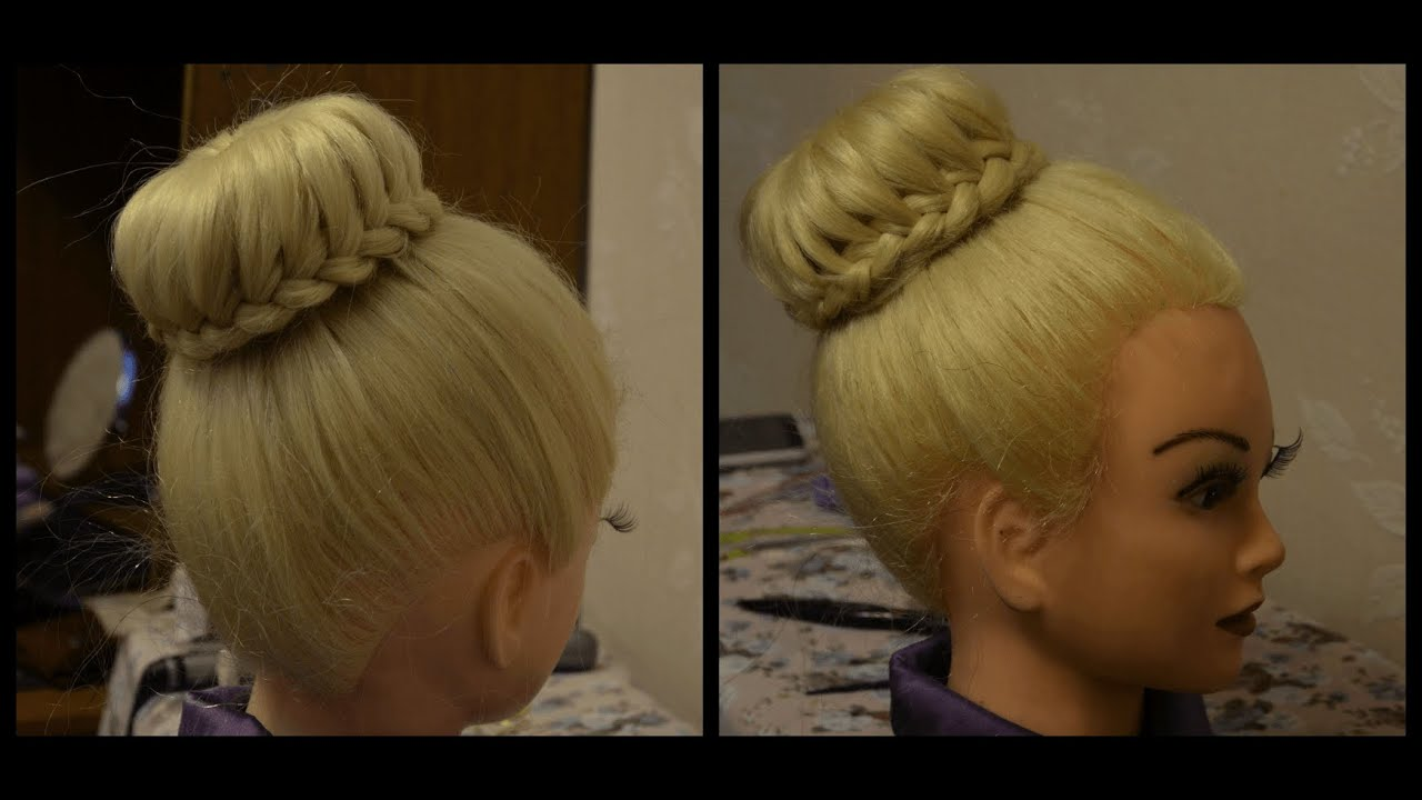 Как сделать причёску с валиком для волос видео