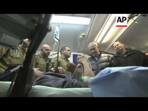 Netanyahu visits Syrians injured in civil war, blames Iran for violence