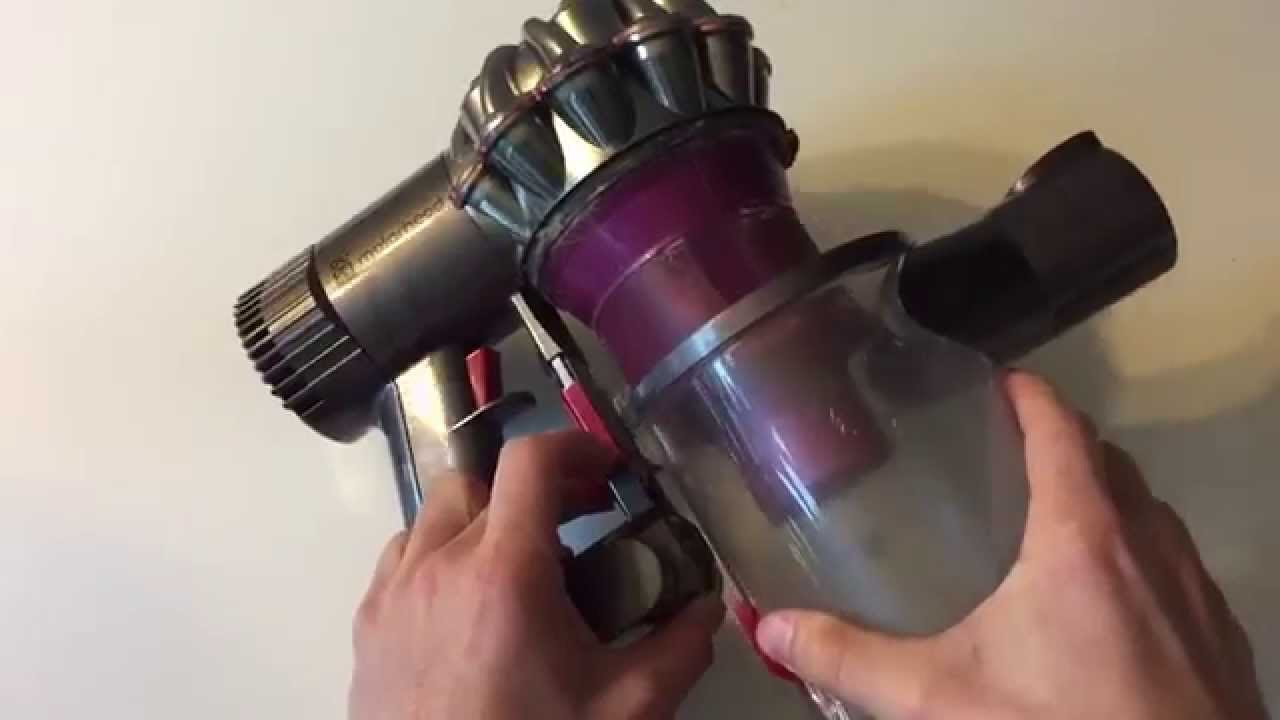 Image of: 965874 02 Youtube Dyson V6 Or Dc59 Animal Not Working Battery Removal Youtube