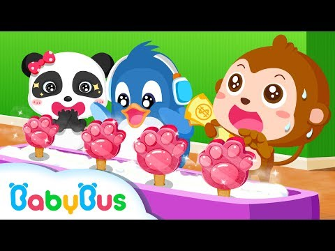 Ice Cream & Smoothies - Kids Make Ice Cream With Panda | Animation For Babies | BabyBus