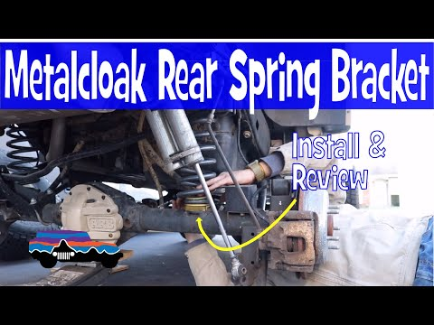 JEEP Wrangler - JK Rear Coil Spring Alignment Correction/Retainer - How To Install.