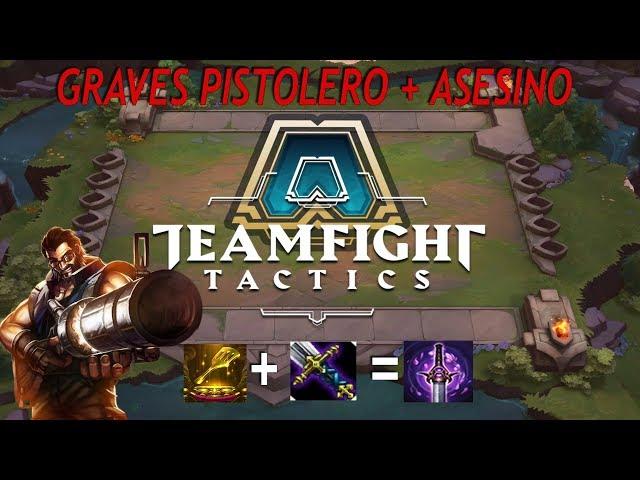 LOL TEAMFIGHT TACTICS   La espátula y como convertir a GRAVES en ASESINO... BROKEN!!
