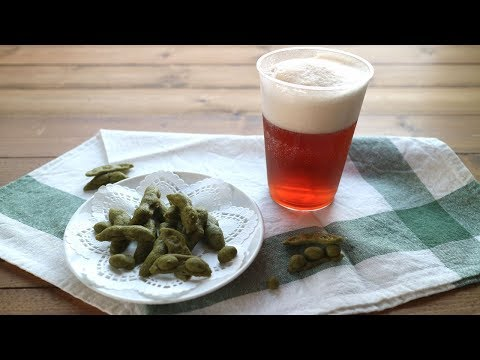 Father's Day recipes!Beer-Like Jelly & cookie Edamame 父の日に!ビールみたいな紅茶ゼリーと枝豆みたいなクッキー