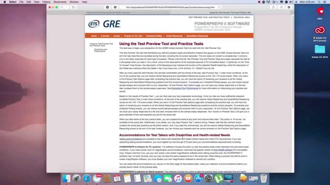 gre study programs for mac