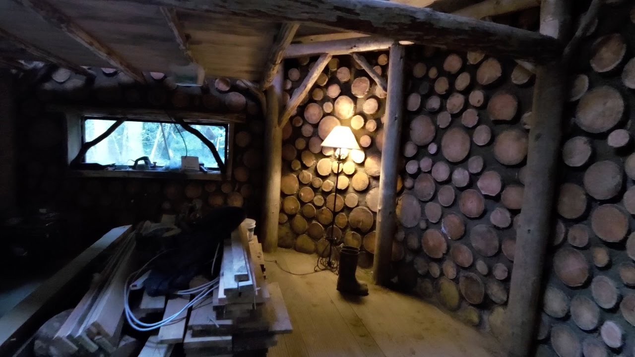 Off Grid Roundhouse Build Part 24 Cordwood Walls Finished