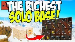 Raiding the RICHEST SOLO BASE on the SERVER! - Rust Solo Survival