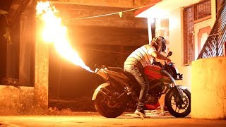 Pulsar 200 NS Turned into a Flame Thrower ( Fire Monster )